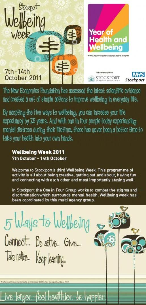 Stockport Wellbeing Week 2011