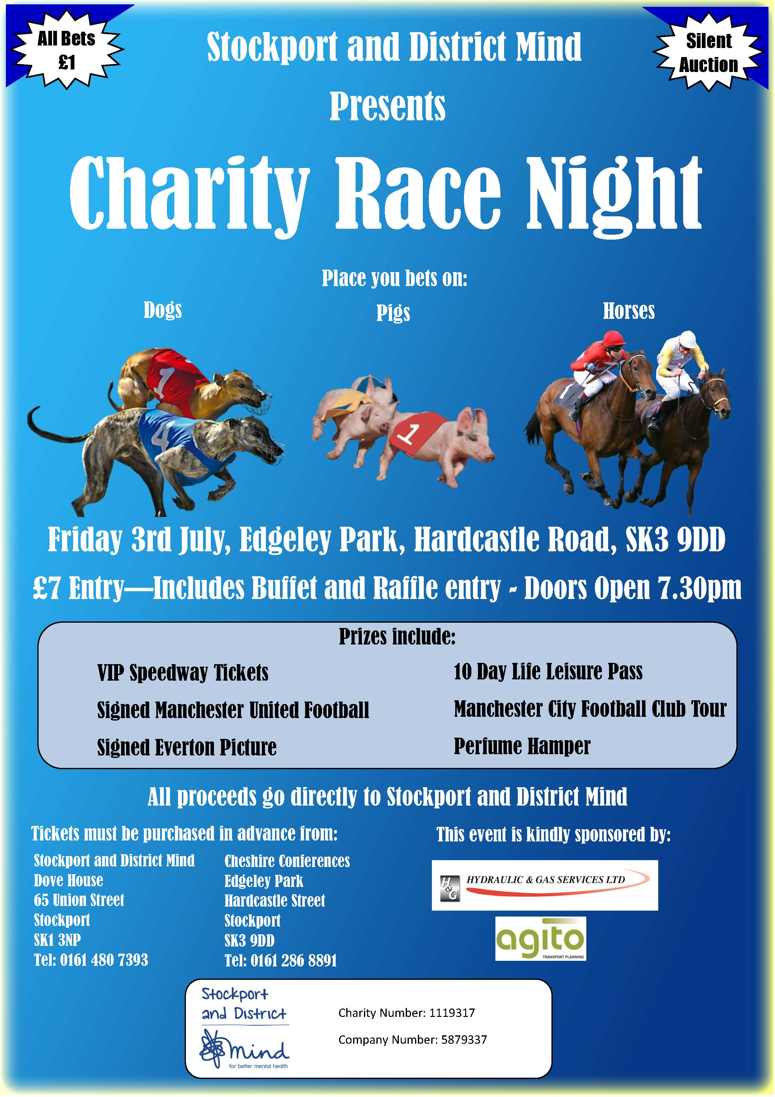 Stockport & District Mind - Charity Race Night - Stockport