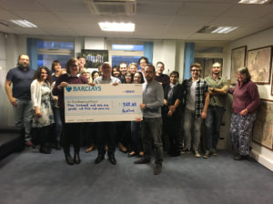 ParkCloud present us with proceeds from fundraiser