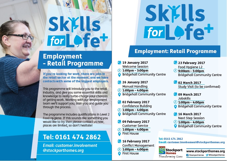 Stockport Homes retail employment programme