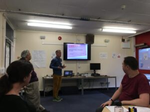 Volunteers and Staff enjoy Social Contact training from Time To Change