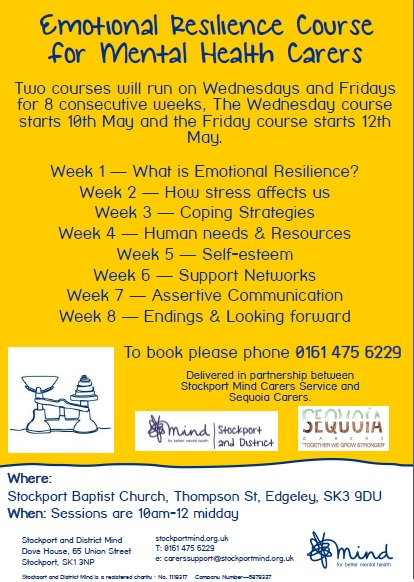 Emotional Resilience course for mental health carers