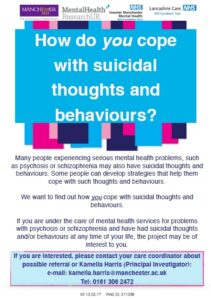 University of Manchester study – Suicidal thoughts and behaviours