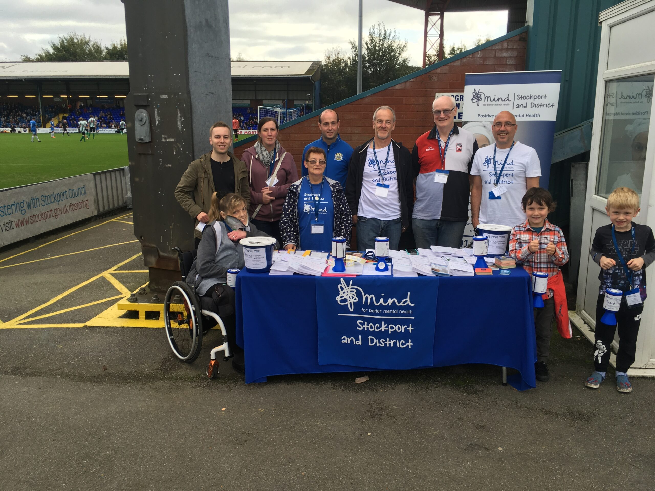 Fundraiser at Stockport County